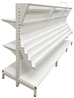 white double-side shelf